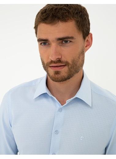 Pierre Cardin G021Gl004.000.1294452.Vr003 Gömlek Uzunk Mavi